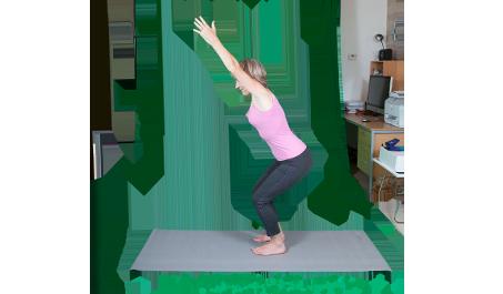 chair pose  mindfulness  yoga